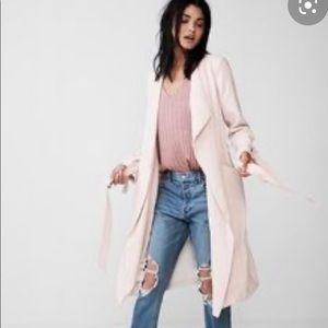 Express blush tan trench coat jacket xs
